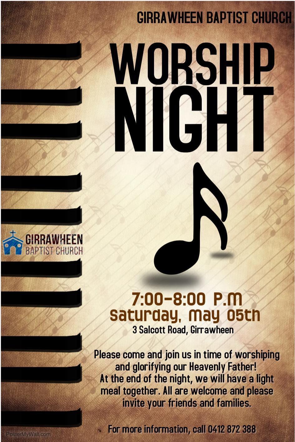 worship night 2018 flyer